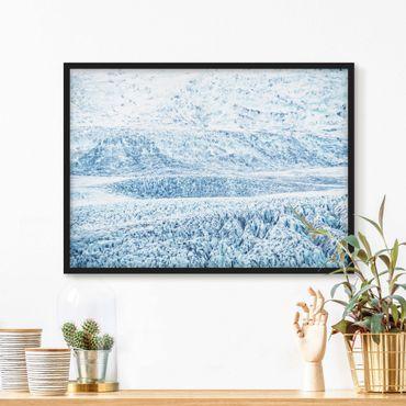 Poster con cornice - Fantasia glaciale islandese