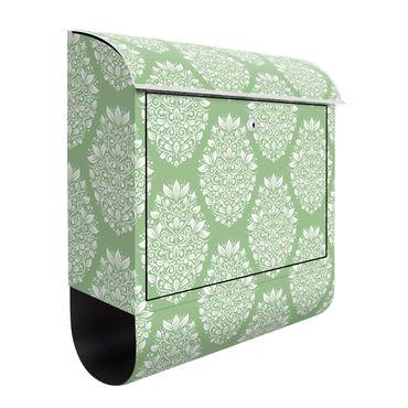 Cassetta postale - Decorazione Jugendstil su verde