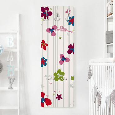 Appendiabiti - Floral Pattern