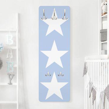 Appendiabiti - Big White Stars on Blue