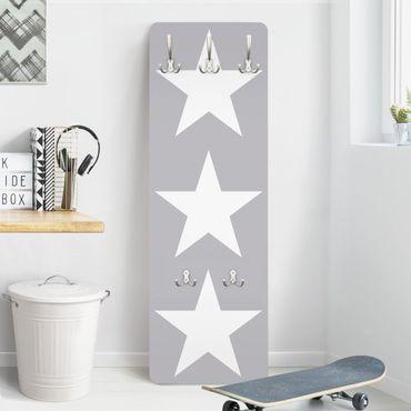 Appendiabiti - Large white stars on grey
