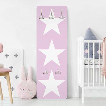 Appendiabiti - Big White Stars on Pink