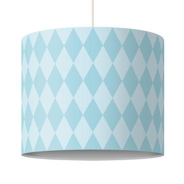 Lampadario design diamond pattern blue