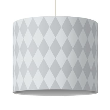 Lampadario design diamond pattern grey