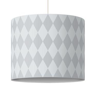 Lampadario design diamond pattern grey