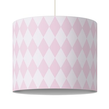 Lampadario design diamond pattern pink