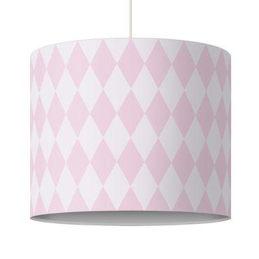 Lampadario design diamond pattern pink