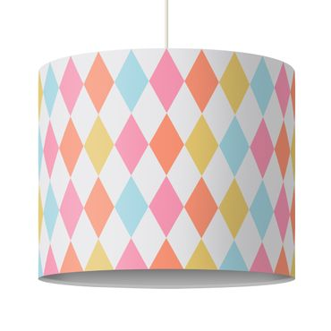 Lampadario design diamond pattern colorful