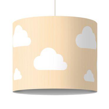 Lampadario design yellow clouds