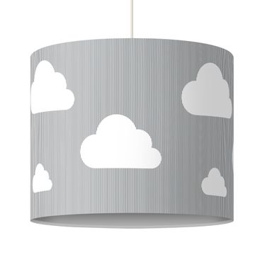 Lampadario design grey clouds
