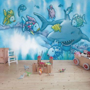 Carta da parati - The Rainbow Fish - Shark Attack