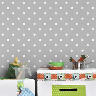 Carta da parati - White dots on grey