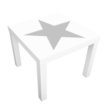 Tavolino design Large Gray Star on White