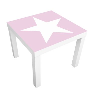 Tavolino design Big White Star on Pink