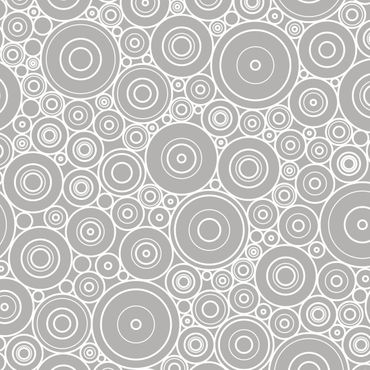 Pellicola adesiva - 60s retro circle pattern white light gray