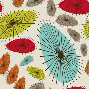 Pellicola adesiva - Abstract retro floral pattern