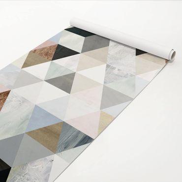 Pellicola adesiva - Acquerello mosaico triangoli con I