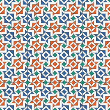 Pellicola adesiva - Arabian tile pattern with very nice color harmony