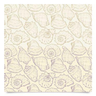 Pellicola adesiva - Maritimes shell pattern in 2 colours