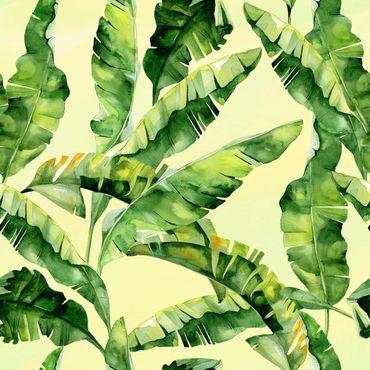 Pellicola adesiva - Banana Leaves Watercolor