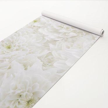 Pellicola adesiva - Dahlias sea of flowers white