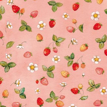 Pellicola adesiva - The Strawberry Fairy - Strawberry Flowers