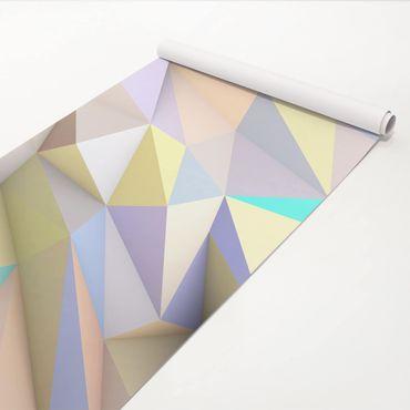 Pellicola adesiva - Geometric Pastel Triangles In 3D