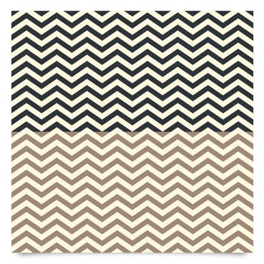 Pellicola adesiva - Modern zigzag stripe pattern in cappucino and anthracite