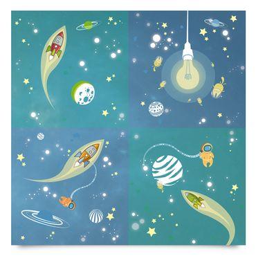 Pellicola adesiva - Universe and astronauts set