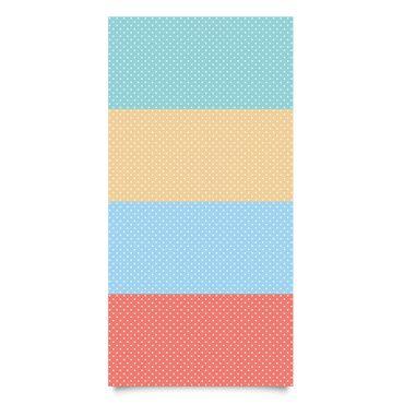 Pellicola adesiva - Pastel colours dotted white