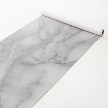 Pellicola adesiva - Marble Look Black White
