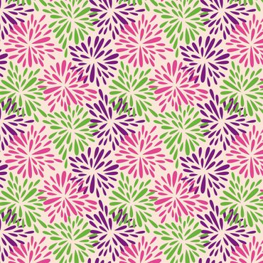 Pellicola adesiva - Modern floral pattern with abstract flowers