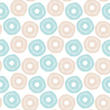 Pellicola adesiva - Modern pastel pattern light blue rose