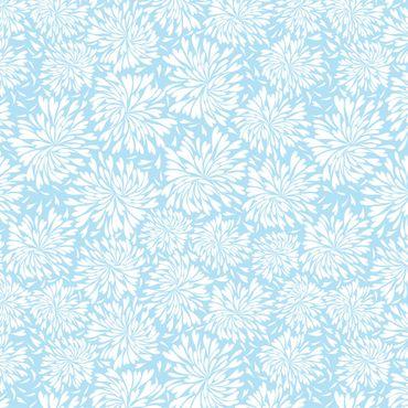 Pellicola adesiva - Modern Scandinavian floral pattern light blue
