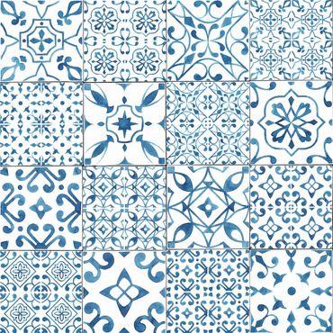 Pellicola adesiva - Pattern Tiles Blue White