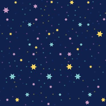 Pellicola adesiva - Nightlights children pattern with colorful stars