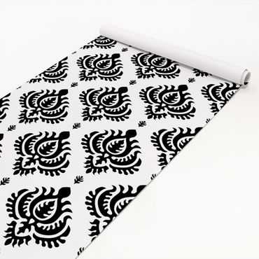 Pellicola adesiva - Neo Baroque black and white damask pattern