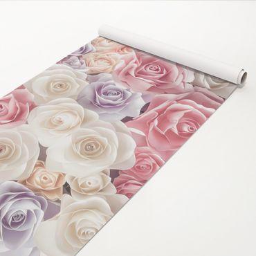Pellicola adesiva - Pastel Paper Art Roses