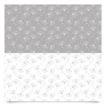 Pellicola adesiva - Dandelion pattern set in agate grey and polar white