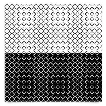 Pellicola adesiva - Moroccan tiles quatrefoil pattern set