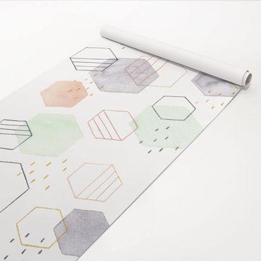 Pellicola adesiva - Forme esagonali I