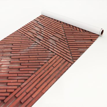 Pellicola adesiva - Design brick red