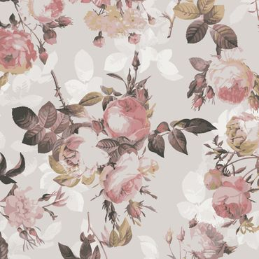 Pellicola adesiva - Vintage floral pattern with roses