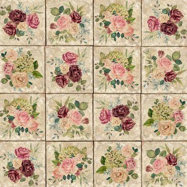 Pellicola adesiva - Vintage Roses And Hydrangeas