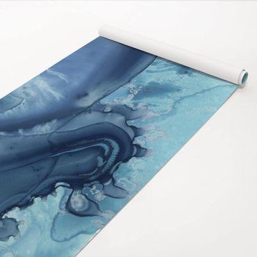 Pellicola adesiva - Saluto Acquerello Blu I