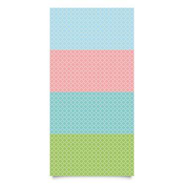 Pellicola adesiva - Morocco Mosaic quatrefoil pattern in 4 colors