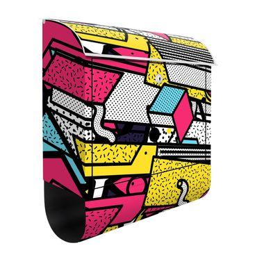 Cassetta postale - Composition Neo Memphis pazzia colorata