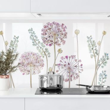 Rivestimento cucina - Fiori Allium Set I