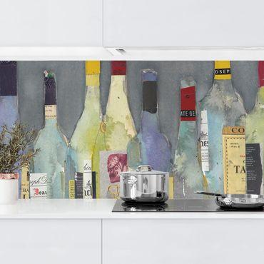 Rivestimento cucina - Bottiglie stappate