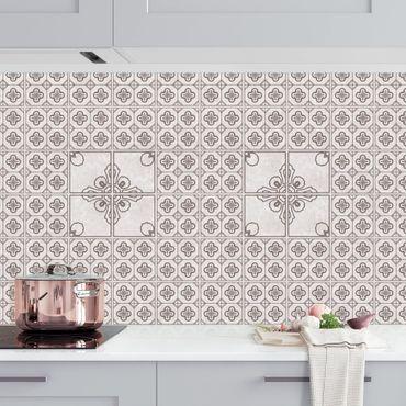 Rivestimento cucina - Motivo piastrelle Porto grigio